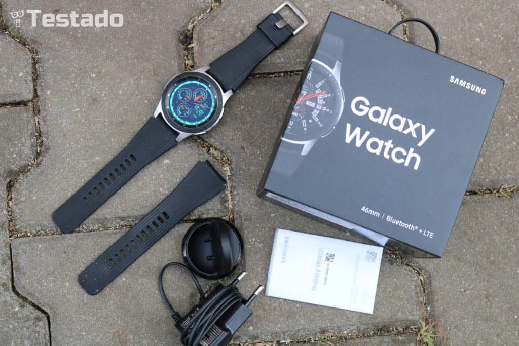 Samsung Galaxy Watch - obsah balení