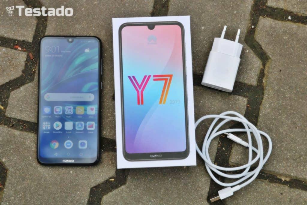 Recenze Huawei Y7 Prime 2019 - obsah balení