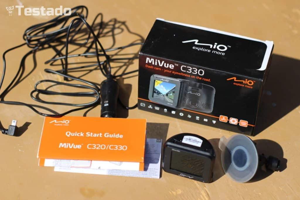 Recenze autokamery Mio MiVue C330 - obsah balení