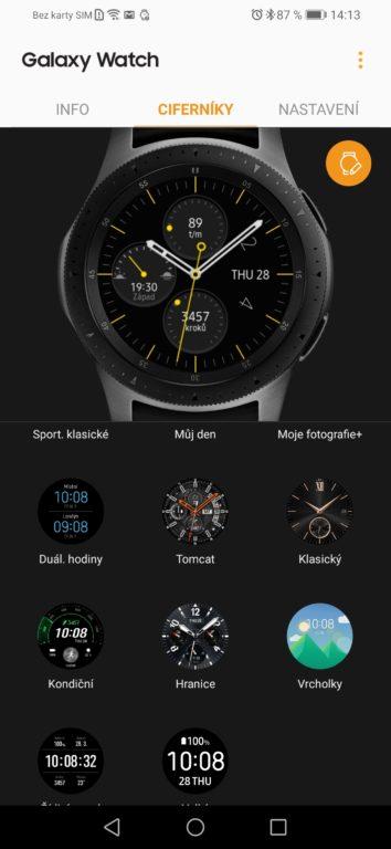 Recenze chytrých hodinek Samsung Galaxy Watch - aplikace