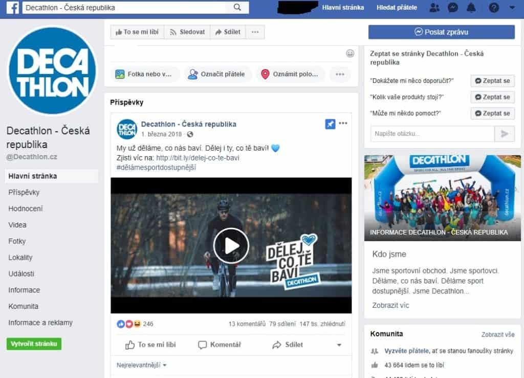Decathlon facebook