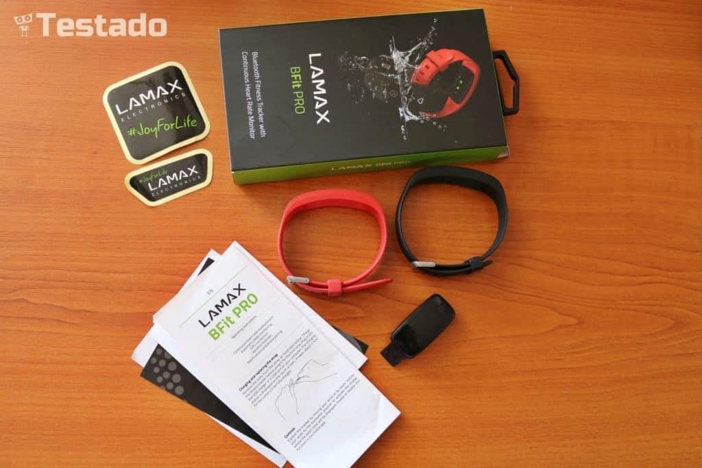 Recenze fitness náramku LAMAX BFit PRO - obsah balení