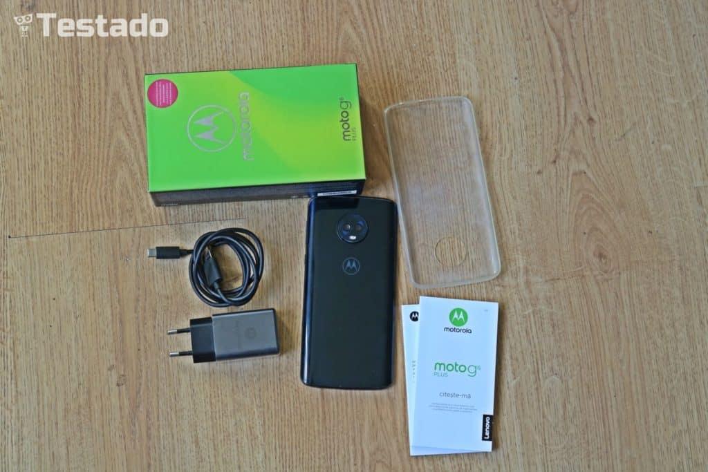 Recenze Motorola Moto G6 Plus - obsah balení