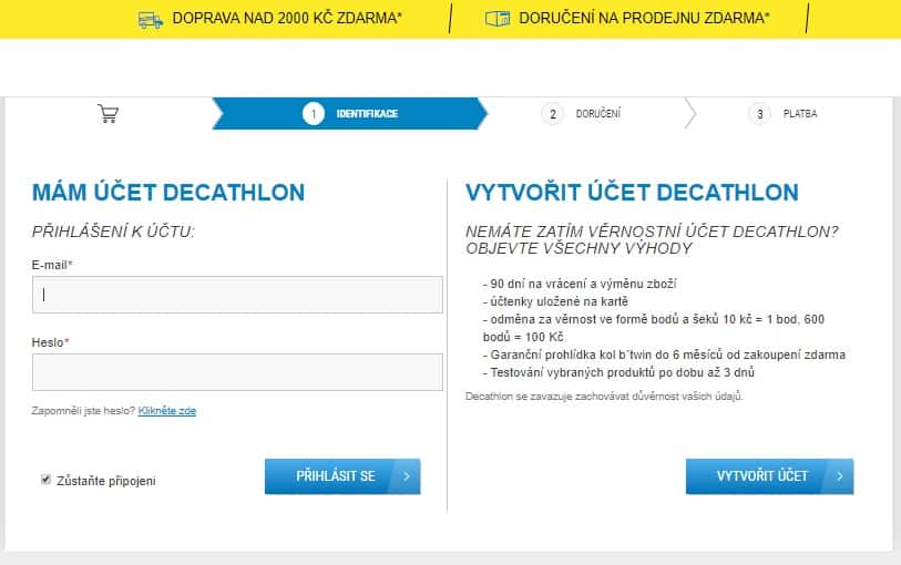 Objednávka - Decathon