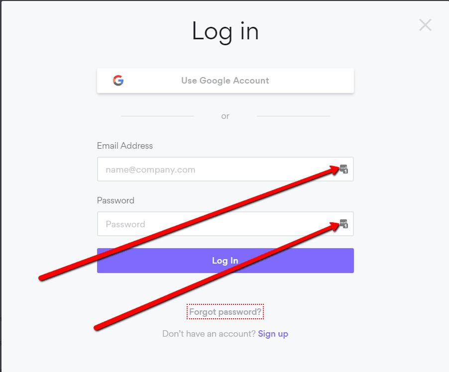 LastPass automatické vyplnění hesla