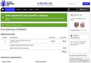 sportobchod.cz - eshop - objednávka