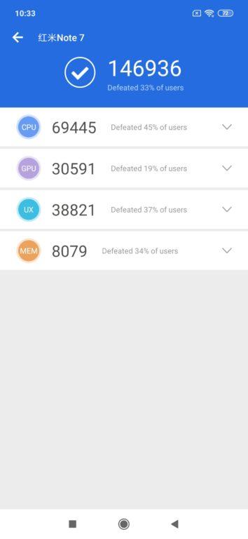 Recenze Xiaomi Redmi Note 7 AnTuTu test hardwaru