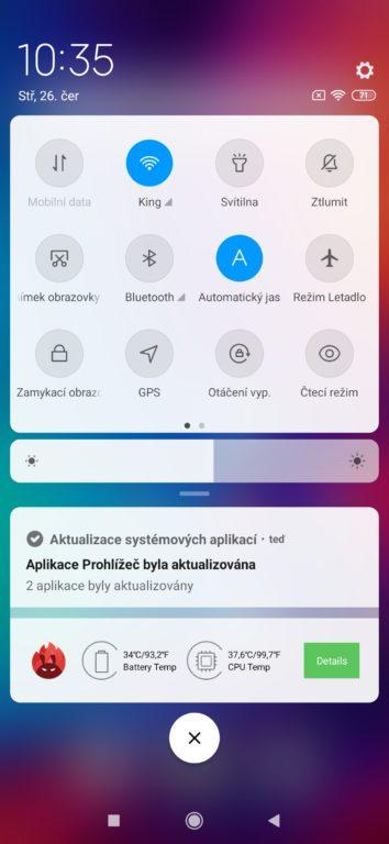 Recenze Xiaomi Redmi Note 7 systém