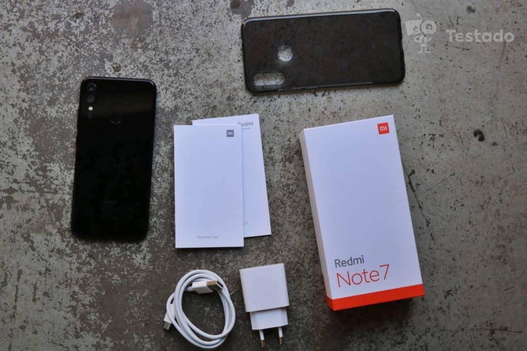 Recenze Xiaomi Redmi Note 7 obsah balení