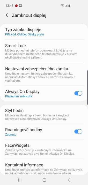 Recenze Samsung Galaxy S10 systém