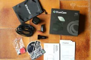 TrueCam H5 recenze kamery do auta obsah balení