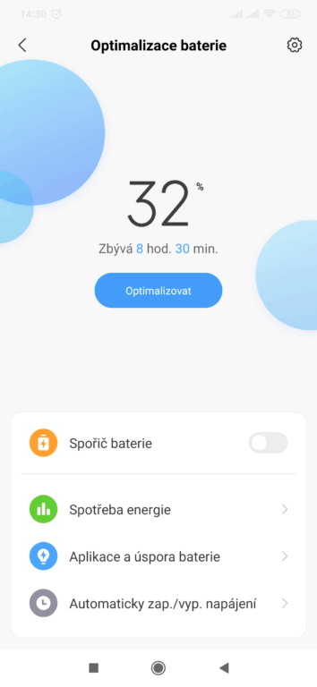 test Xiaomi Mi 9 systém Android