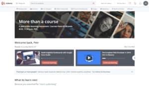 Udemy kurz online zkušenosti