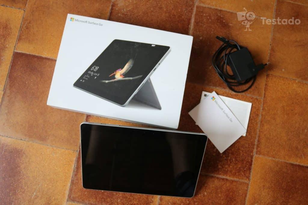 Recenze Microsoft Surface Go obsah balení