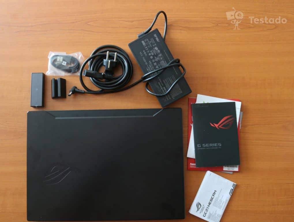 Recenze herního notebooku Asus ROG Zephyrus S (GX502) - obsah balení