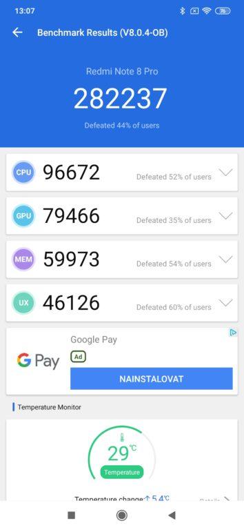 Recenze Xiaomi Redmi Note 8 Pro - AnTuTu