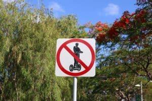 Značka zákaz segway