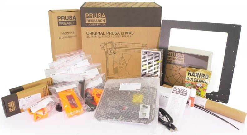3D tiskárna rozložená stavebnice Prusa i3 MK3S
