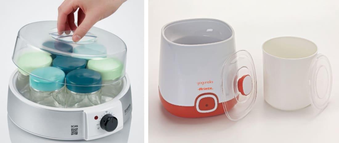 jogurtovač s mísou a jogurtovač se skleničkami