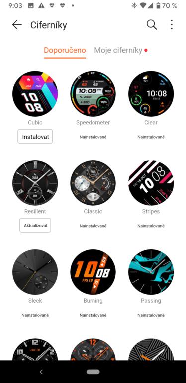 Recenze chytrých hodinek Huawei Watch GT 2 - aplikace a funkce