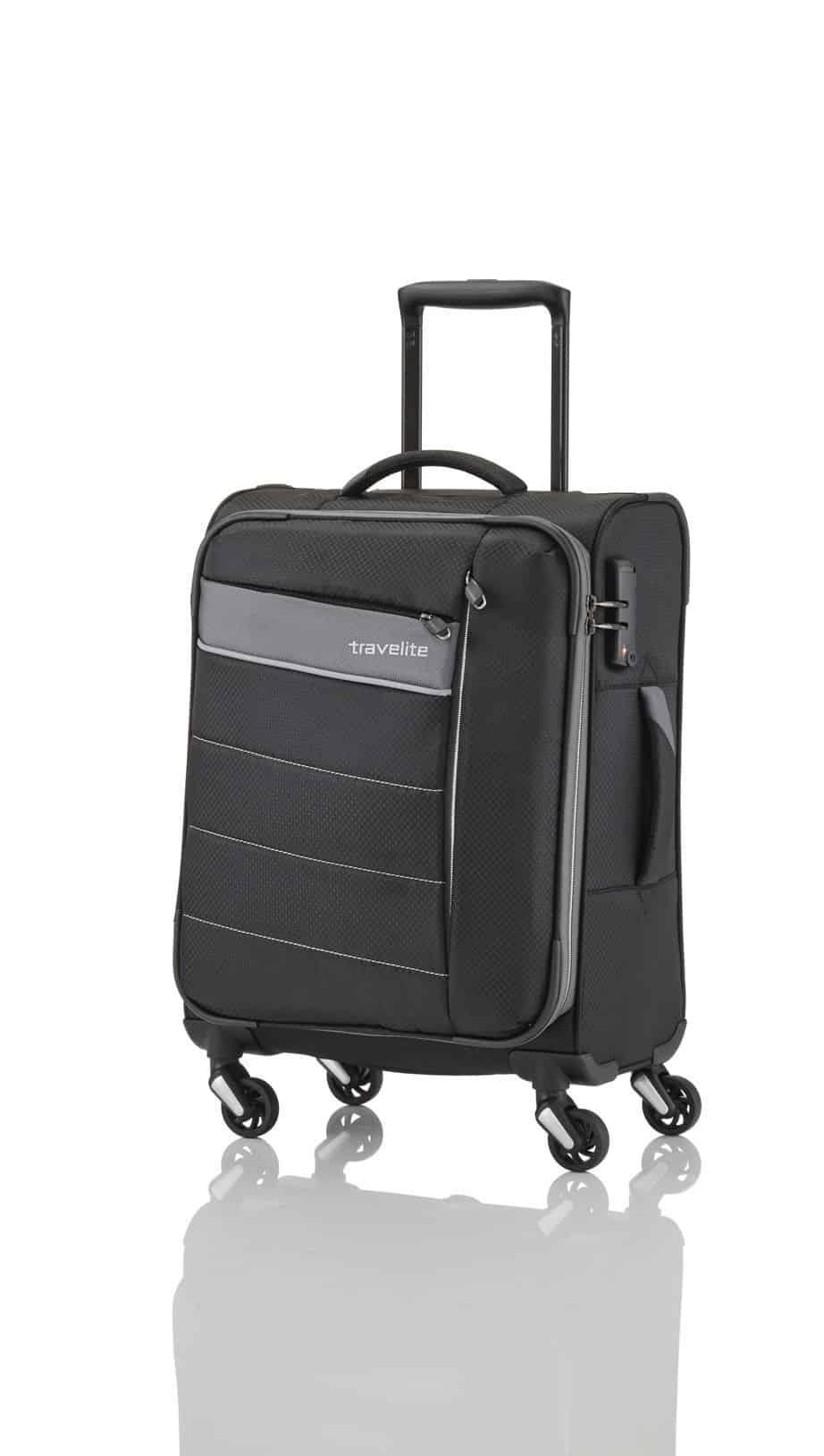 textilní cestovní kufr