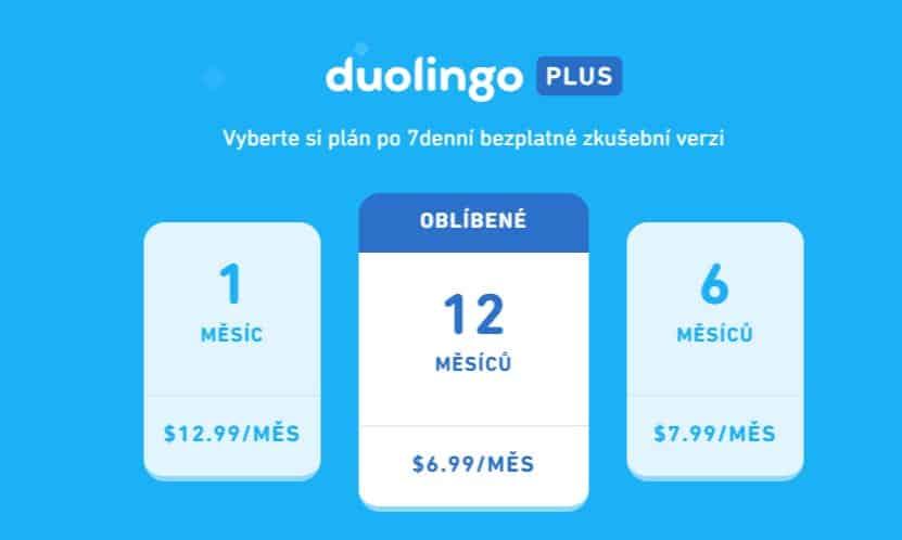 ceník duolingo plus
