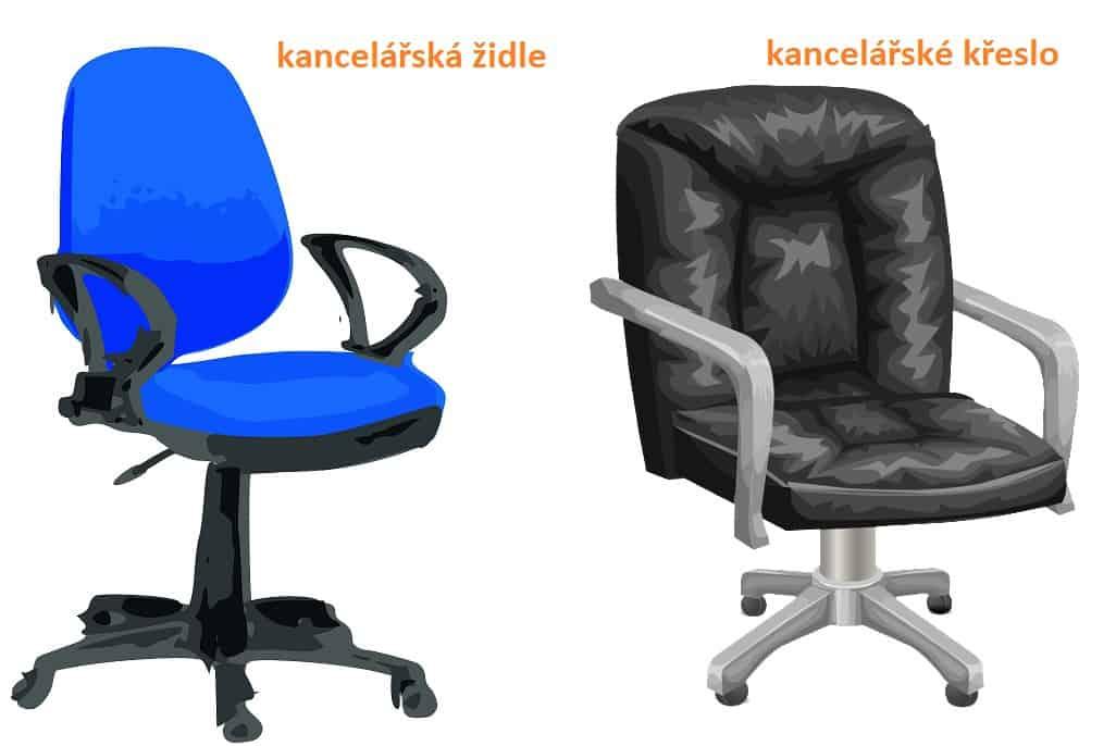kancelářská židle vs. kancelářské křeslo - informace