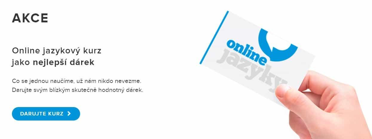 dárkový poukaz onlinejazyky