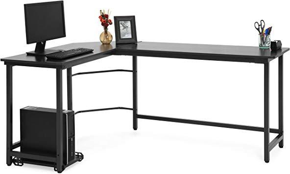 počítačový herní stůl do tvaru písmene L