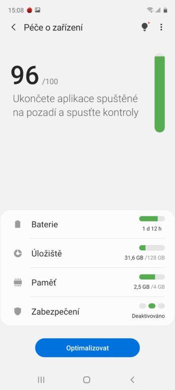 Samsung Galaxy A51 systém Android 10
