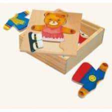 Biko Šatní skříň Medvědice a medvídě nejlepší dřevěné hračky