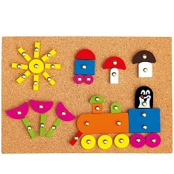 Bino hra s kladívkem - Krtek nejlepší dřevěné hračky