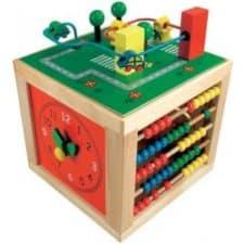 Bino Motorická kostka nejlepší dřevěné hračky