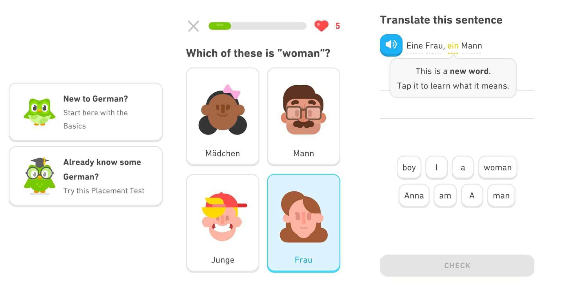 online němčina duolingo