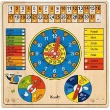 Woody víceúčelový kalendář nejlepší dřevěné hračky