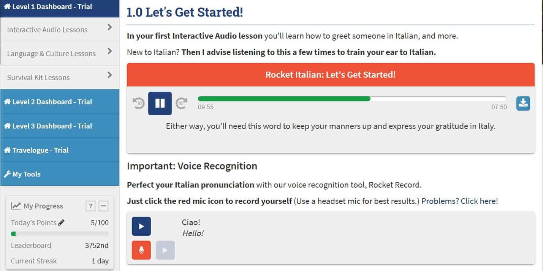 italština online Rocket Languages