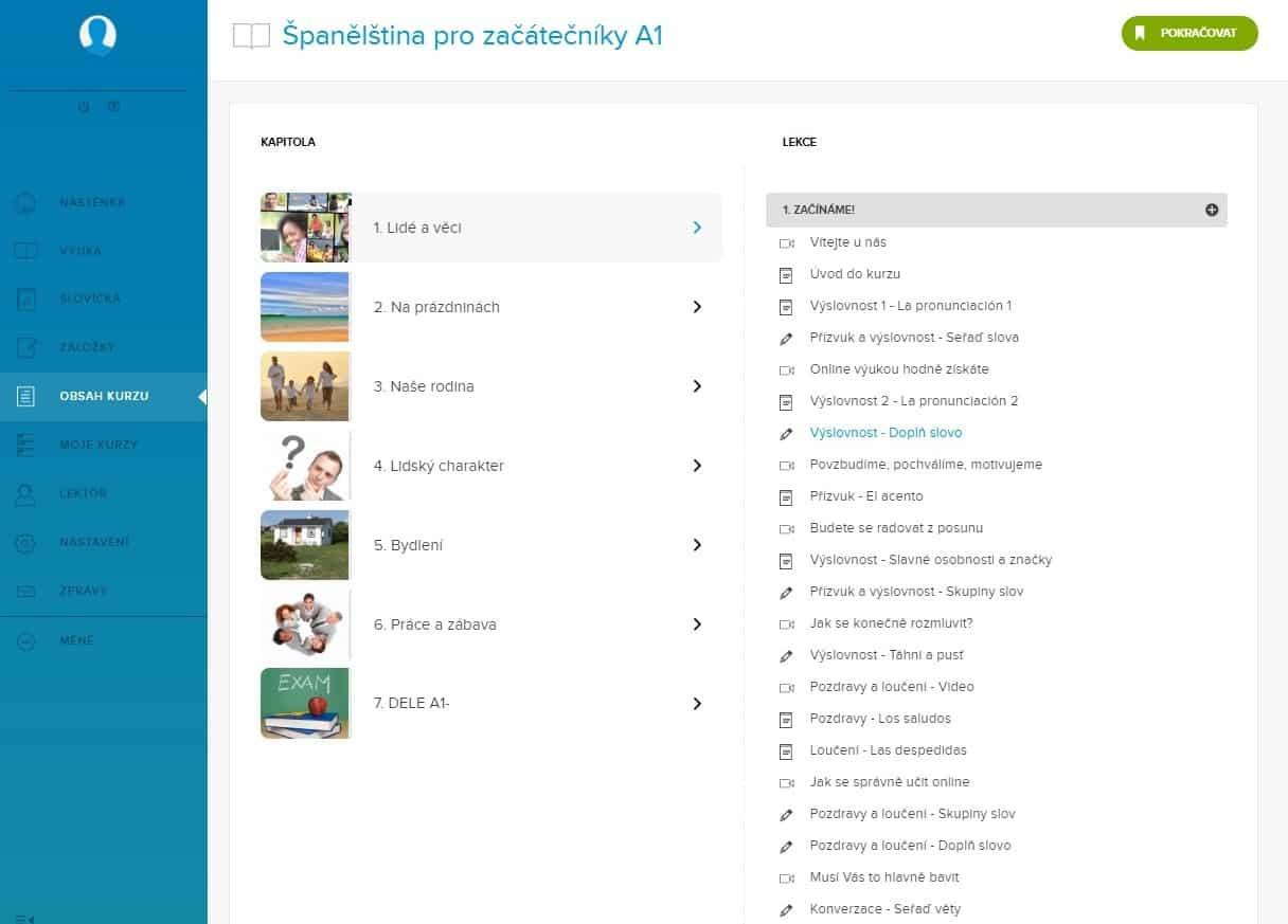 výuka španělštiny online