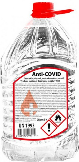 spotřeba dezinfekce proti koronaviru