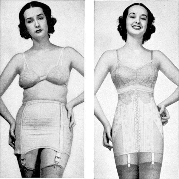 historie stahovacího prádla
