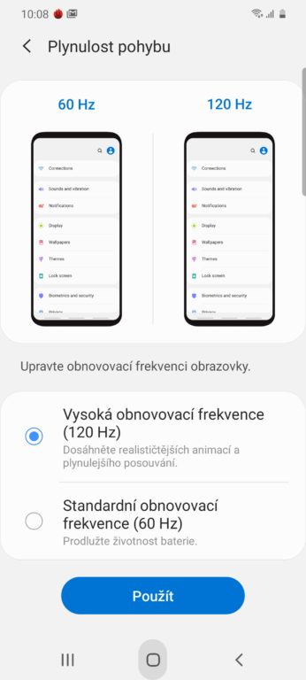 recenze Samsung Galaxy S20 systém