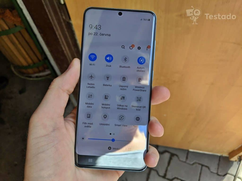 test smartphone Samsung Galaxy S20