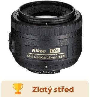 recenze objektivu - Nikon 35mm f/1,8G AF-S DX