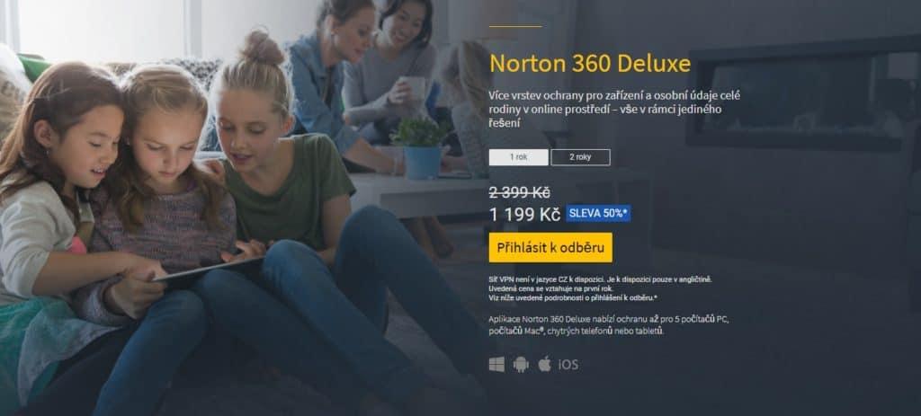 Norton 360 Deluxe - testy a recenze antiviru