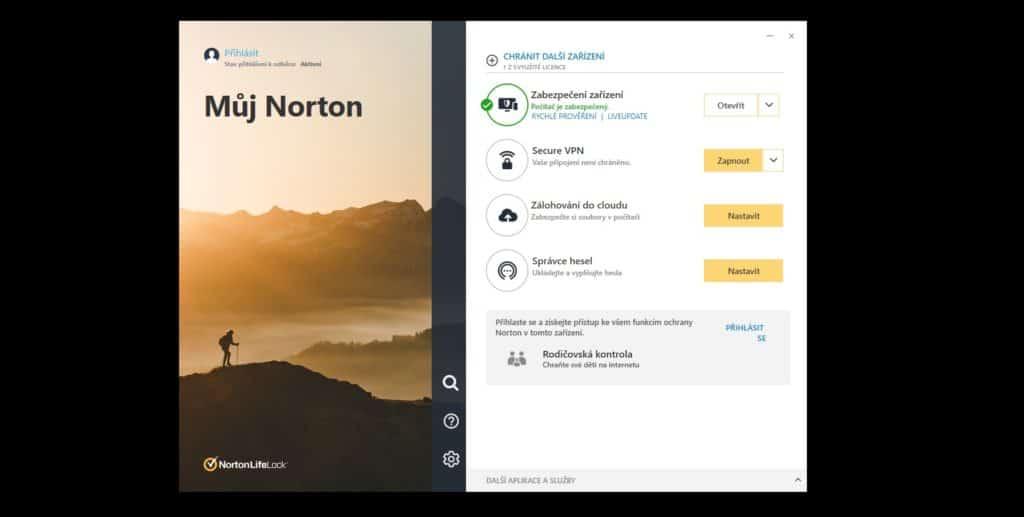 Norton 360 Deluxe funkce a možnosti