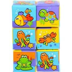 hračka pro děti Playgro Měkké pěnové kostky