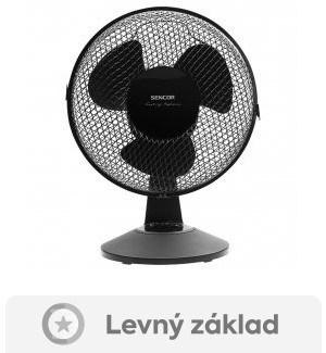 test stolního ventilátoru Sencor SFE 2311BK