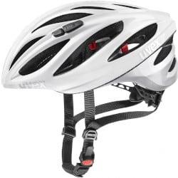 Uvex BOSS RACE WHITE-SILVER 2020 – lehká silniční helma