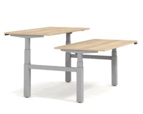 Výškově nastavitelný stůl s 2 deskami