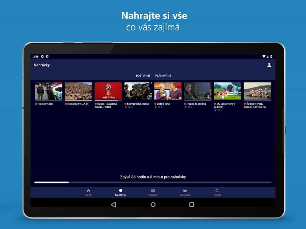 internetová televize O2 aplikace