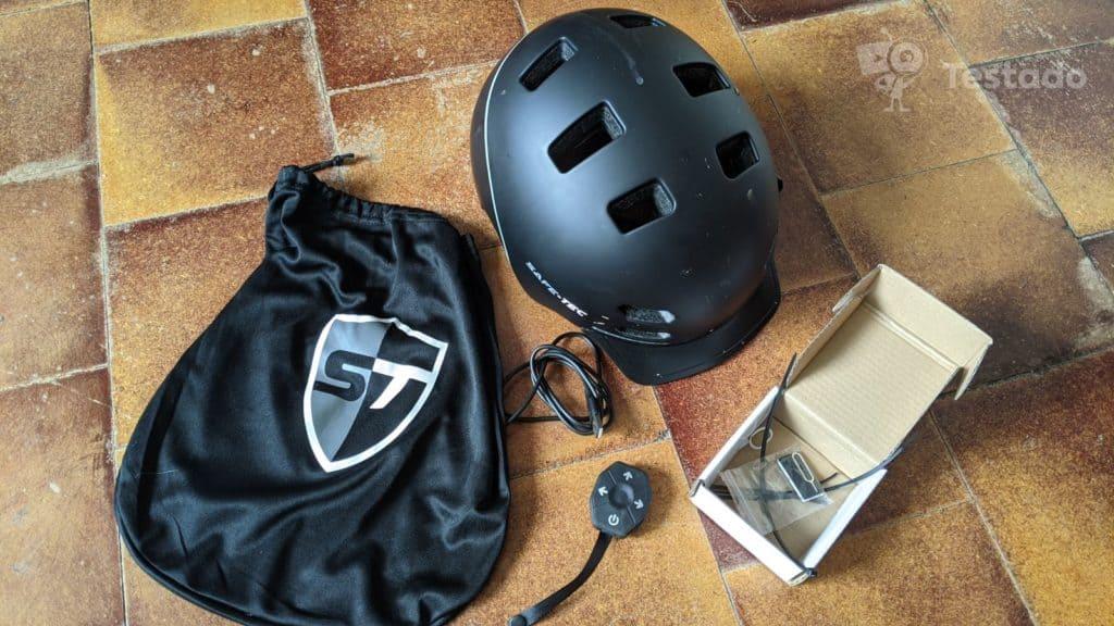 Recenze a test helmy Safe-Tec SK8 - obsah krabice